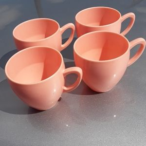 Harmony House retro pink tea cups, set of 4